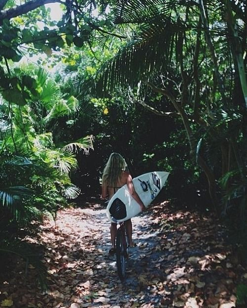 Thru the woods to the sand - #surf #nature #awesome