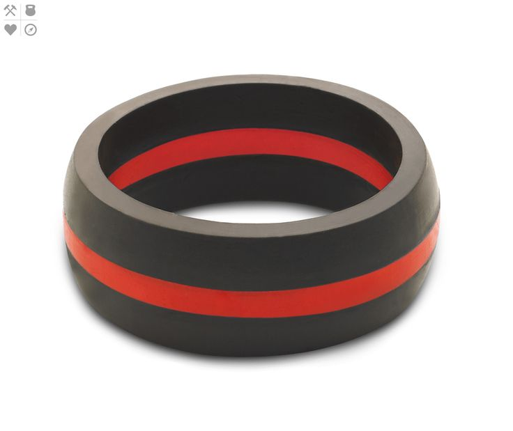 Men's Thin Red Line Ring