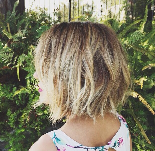 Love the tousled bob haircut!