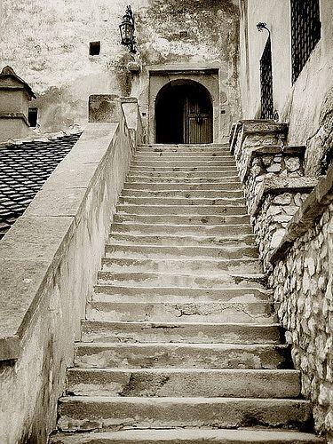 Bran Castle entrance, (14th century), Transylvania, Romania
