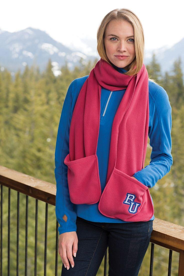 Флисовый шарф: шарф из флиса на липучке и вкпо