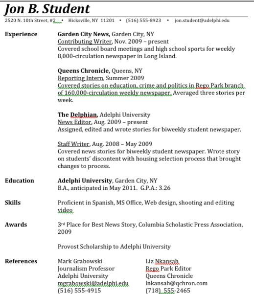 Student Resume Solid Experience.JPG