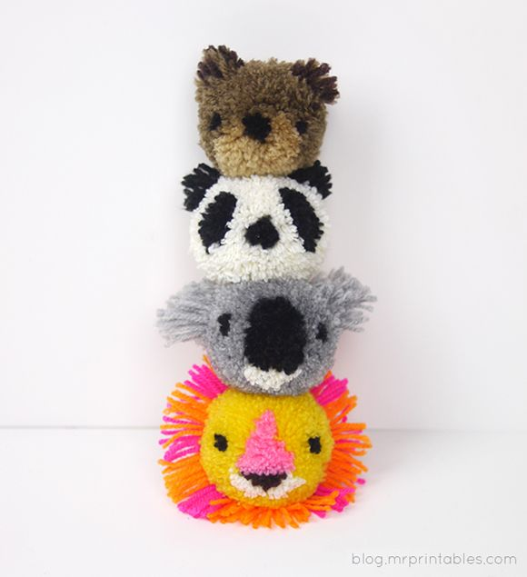 diy pompons animaux-MrPrintables-2