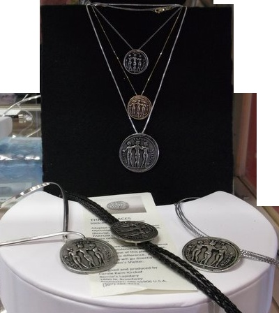 Graces for charity.  Jewellery designed by Carole Kent-Kirckof as a fund raiser for the Rochester Minnesota Women's Shelter.