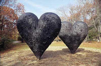 """two big black hearts"" jim dine"
