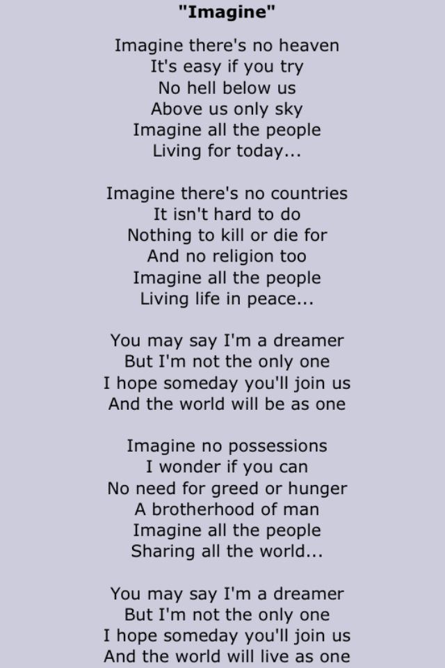 imagine john lennon song meaning