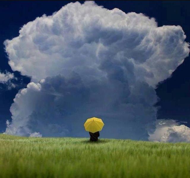 Another amazing day: Un ombrello giallo