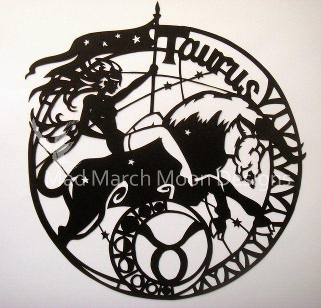 'Taurus' zodiac paper cut £45.00