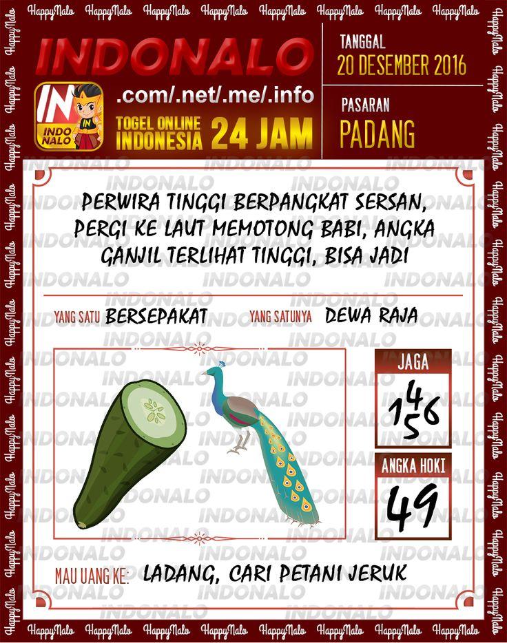 Undian Lotre 4D Togel Wap Online Live Draw 4D Indonalo Padang 20 Desember 2016
