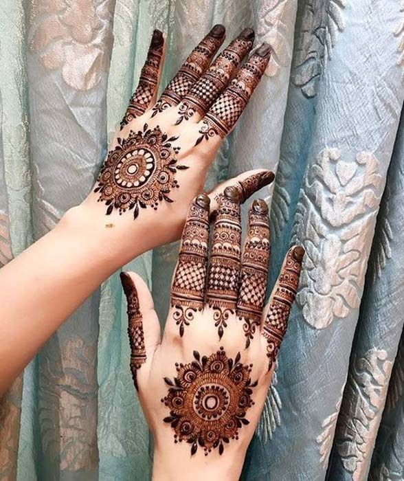 Intricate finger and mandala a perfect treat for hands mehndi