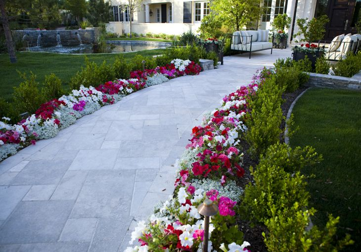 23 best images about walkway landscaping ideas on for Plants for walkway landscaping ideas