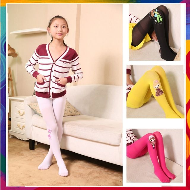 teenagers in coloured tights | 2014 Girl Tights Velvet Long Sotckings Sweet Candy Color wholesale ...