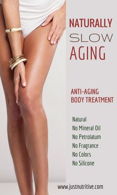 With age, the body begins to expose sagging skin, wrinkles, cellulite, and pigmentation. Most of the anti-aging products are only focused on protecting and healing facial skin. The rest of your body ages at the same rate but only receives a fraction of the care. The upper arms, neck, derriere, abdomen, legs, buttocks and back all require equal care to fight the effects of aging and retain the youthful glow and firm feel of your skin...