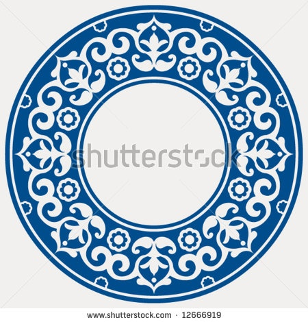 stock vector : round floral frame