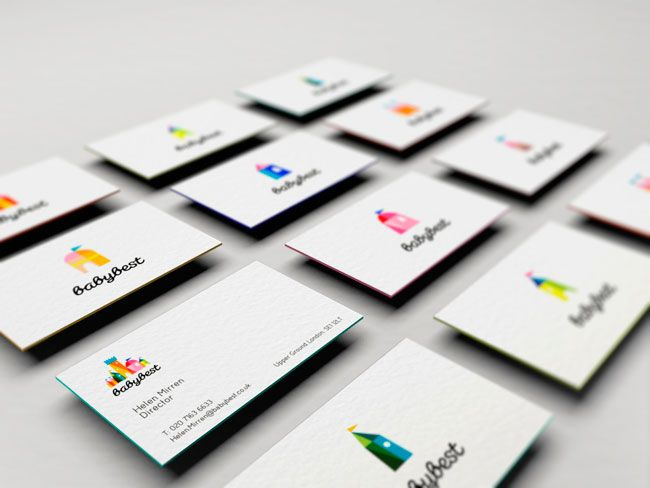 Brilliant business card presentation