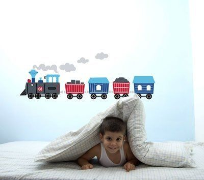 Train Removable Wall Decal Stickers