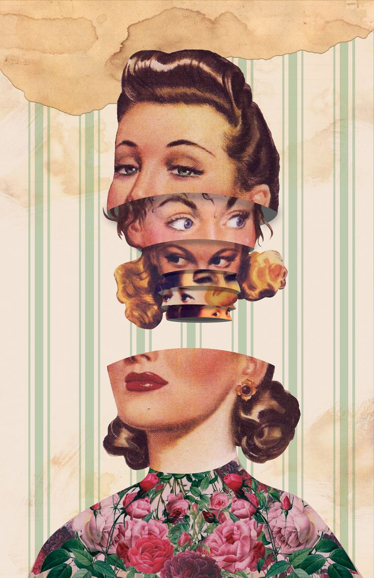 A Digital Collage Depicting Mixed Emotions I Had by Mariah Llanes via @Kevin Mann & Robin - #art