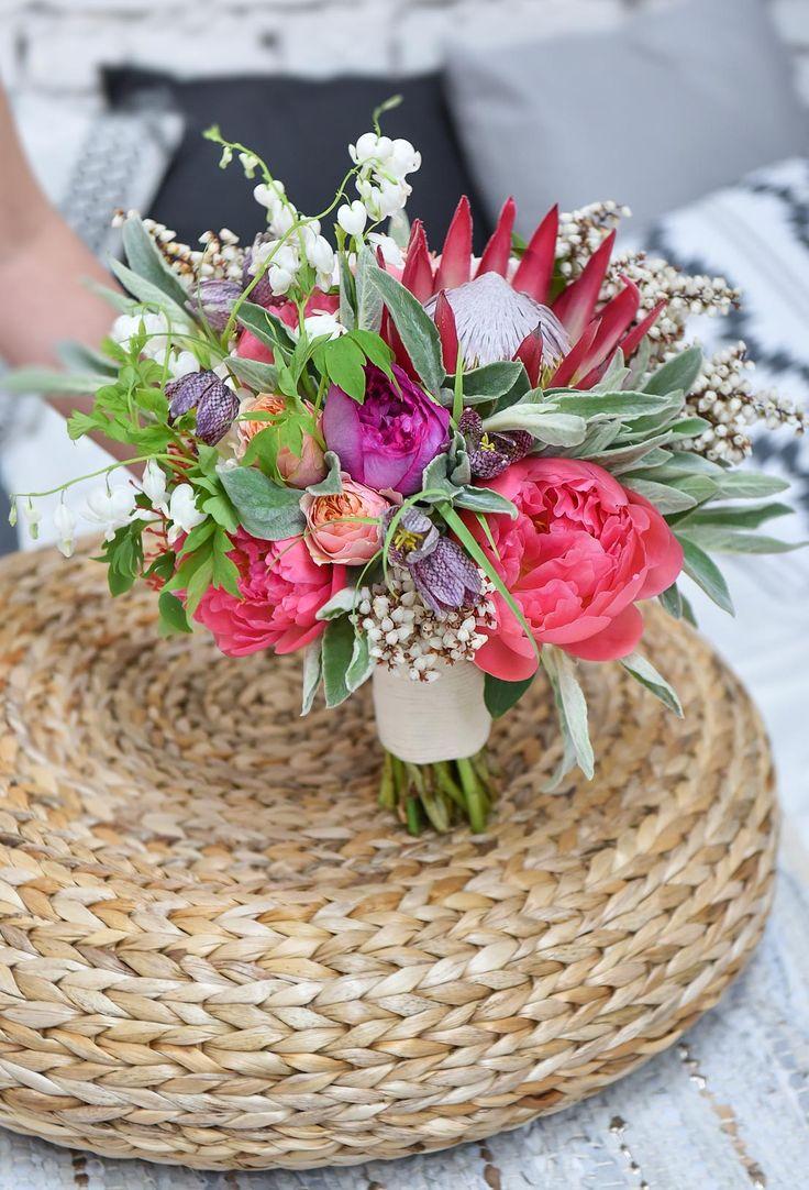 Mariage Ethnique Moderne - Design Dessine-moi une etoile - Fleurs Aude Rose - Photo Annaimages - Bouquet de mariee