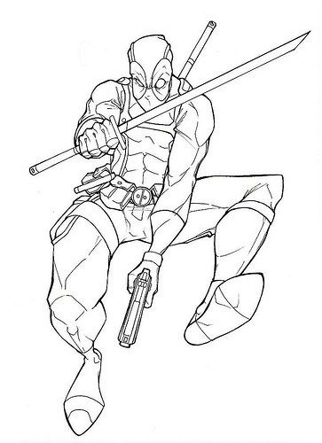Imágenes de Deadpool para Dibujar | leono | Coloring pages, Deadpool ...