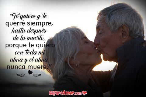 Especial colección de imagenes de parejas de ancianos enamorados con bonitas frases de amor para dedicar a tu pareja en tus redes sociales favoritas.