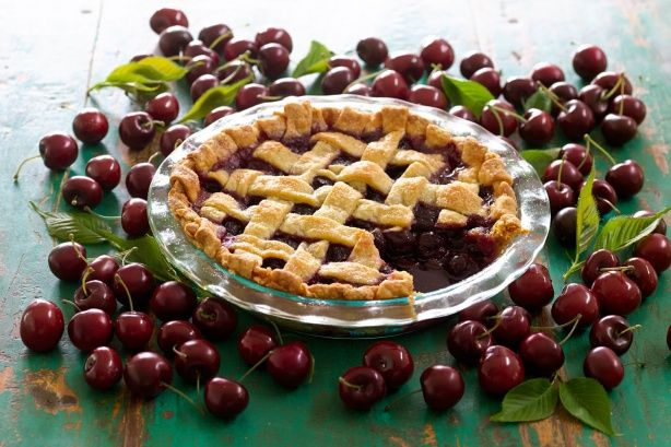 Celebrate fresh-cherry season with Curtis Stone's delicious pie with mixed berry ripple ice cream.