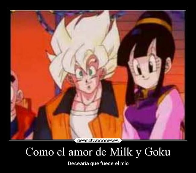 De Dragon Ball Amor Goku Y Milk Buscar Con Google