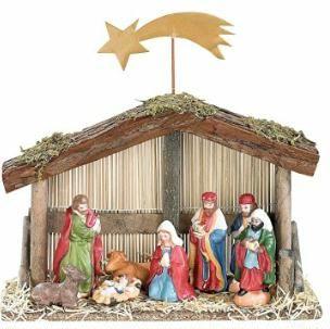 http://amzn.to/2gLkNWg weihnachtsdeko ideen PEARL Weihnachts-Krippe (10-teilig) mit handbemalten Porzellan-Figuren