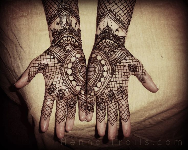 Wedding Henna in Black and White