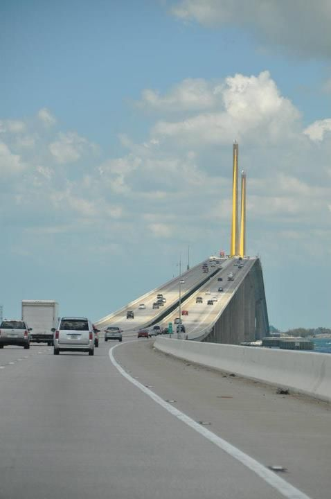 Tallest bridge in Florida.  I've already crossed this bridge and I would have to say, it was amazing..    Sunshine Skyway Bridge - St. Petersburg, Florida