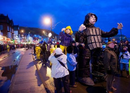 York Press: Scarborough's South Bay draws a large crowd to watch a procession of giant puppets as part of the Coastival festival