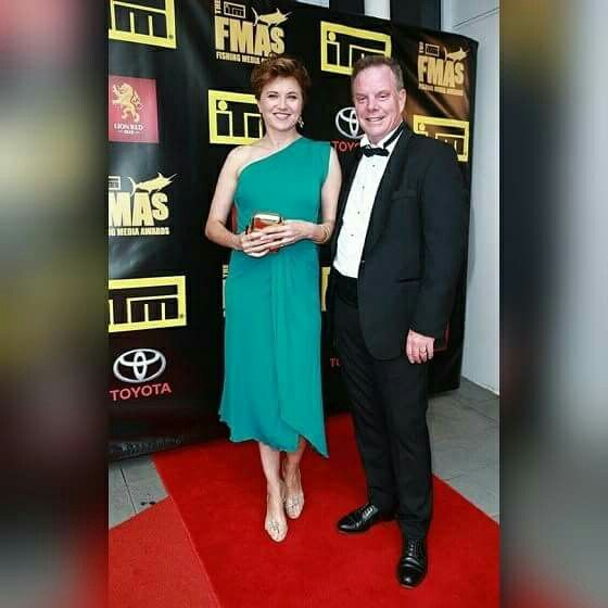 Lucy Lawless with Husband  Robert Tapert at 'The ITM Fishing Media Awards'