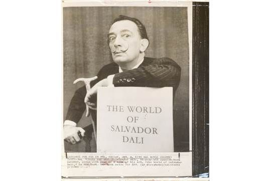 Anon., Press Association, mid/late 20th century- ''Dali Presents a New Venus''; gelatin silver pr