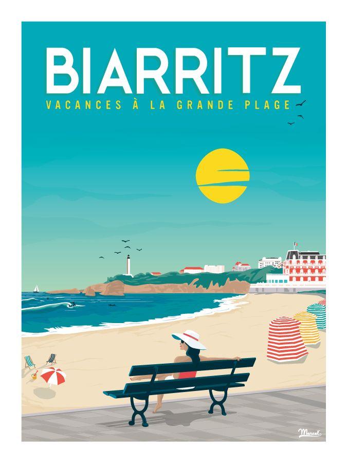 © Marcel Biarritz VACANCES A LA GRANDE PLAGE www.marcel-biarritz.com