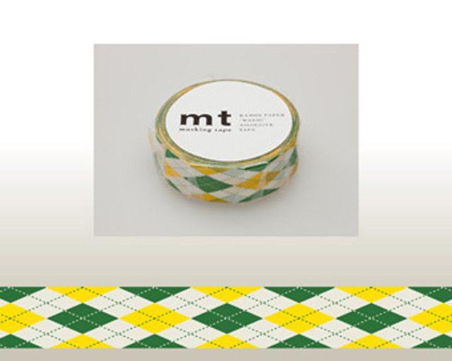 Washi Tape MT Argyle Green