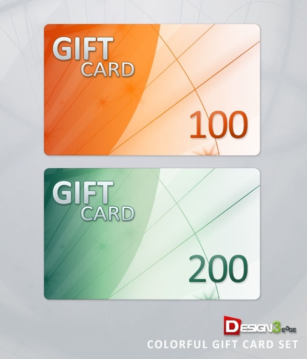 Colorful Gift Card Set: Cards Psd, Design Gift, Gifts, Gift Cards, Download Colorful