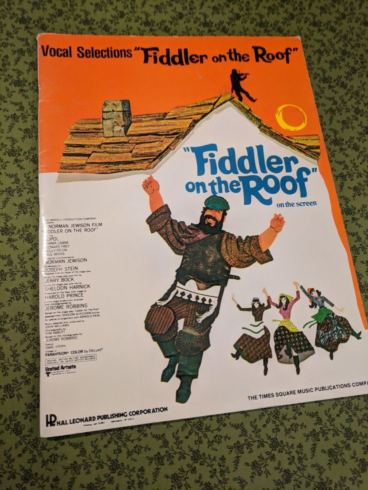 Fiddler on the Roof Piano & Song Book from 1971 in Great