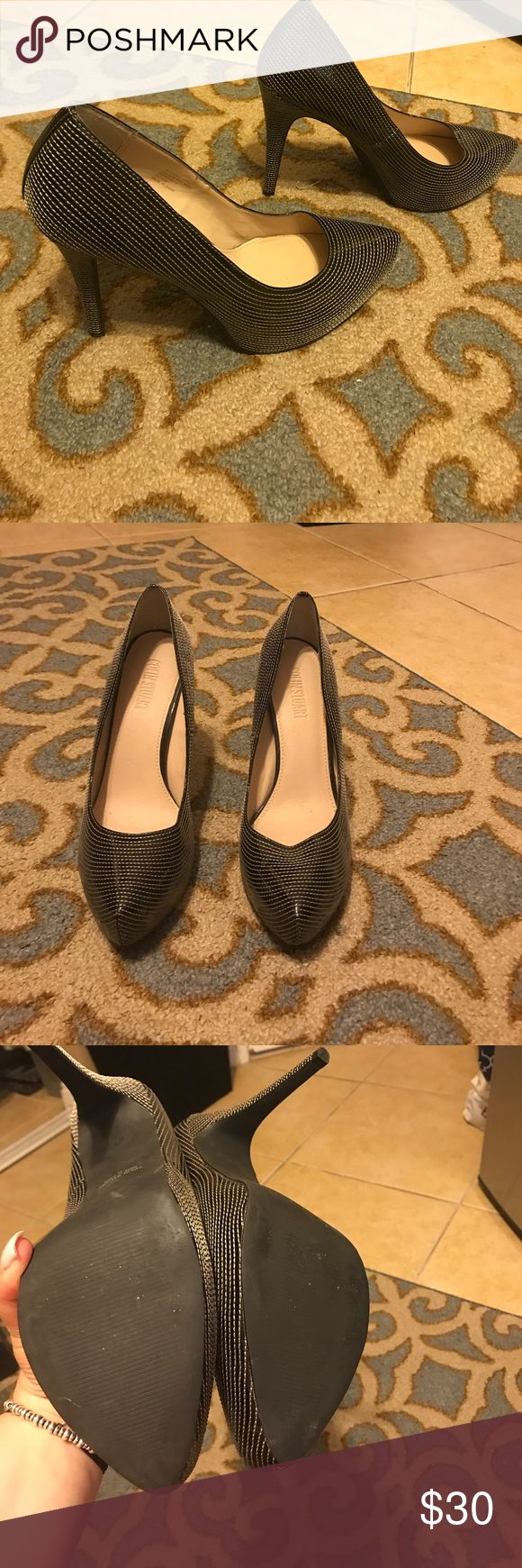 Colin Stuart Heels Black/White Colin Stuart Heels. Great condition Colin Stuart Shoes Heels