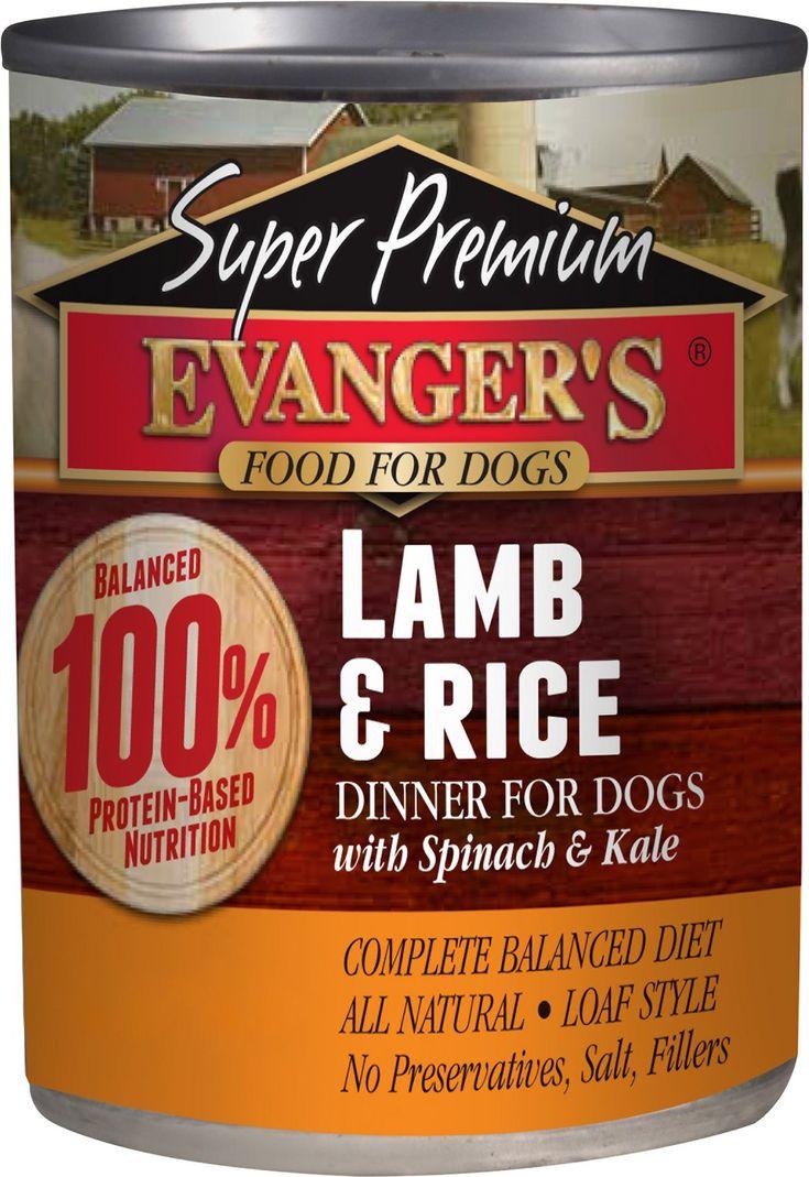 Evanger S Super Premium Lamb Rice Dinner Canned Dog Food