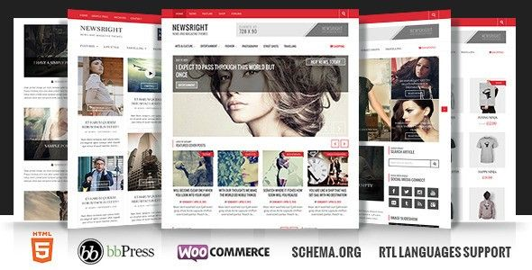 Newsright - Wordpress Premium HD News & Magazine - Blog and Magazine