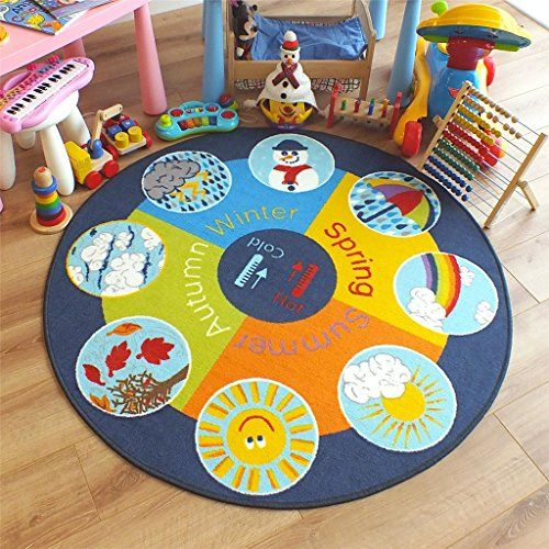 Runner Rug Children Rug Weather Seasons School Nursery Education Kids Carpet Home Mat Floor