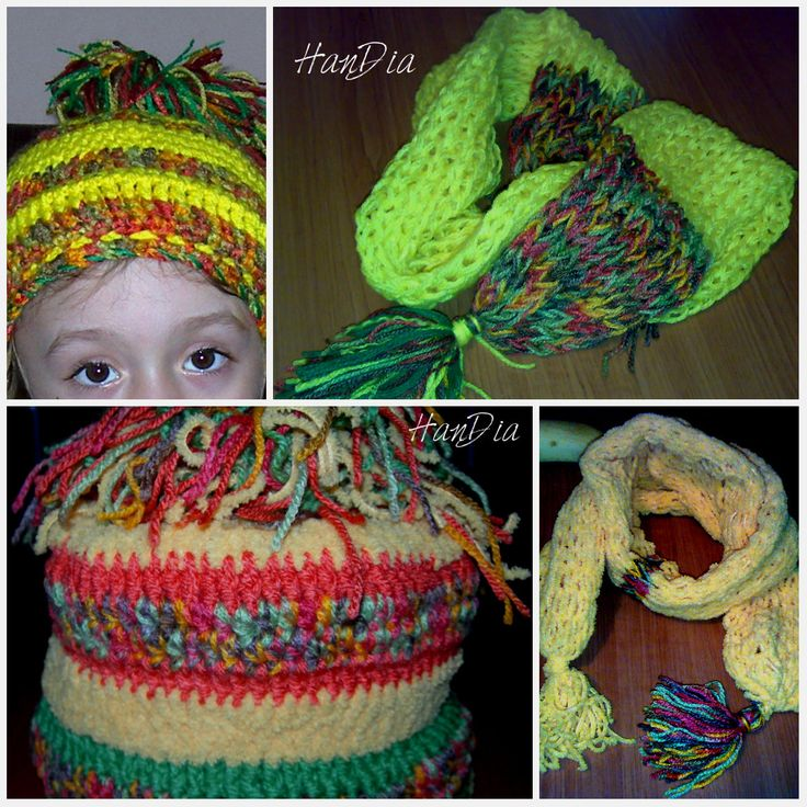SETURI COMPLETE Caciuli crosetate si fulare tricotate