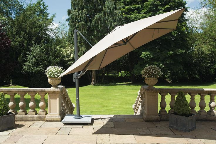 Nowadays, overhanging parasol base patios are generally used as an alternative protection from hot weather instead of using hats or other head coverings.