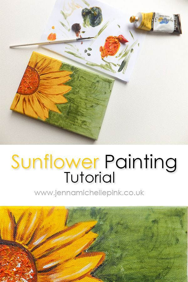 A fun summer sunflower acrylic painting tutorial ideal for all - Jenna Michelle Pink Blog