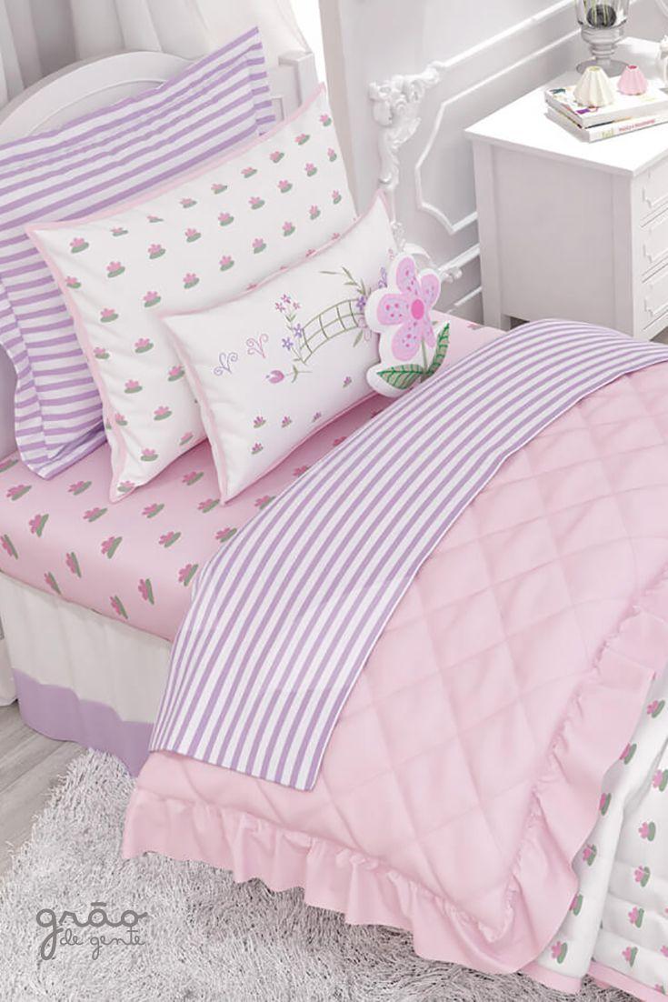 3f98d5f3d O Kit Cama Infantil Floral Monet é perfeito para levar beleza e conforto  para o quarto