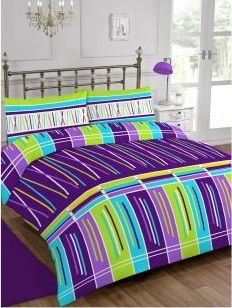 Stix Purple Duvet Cover