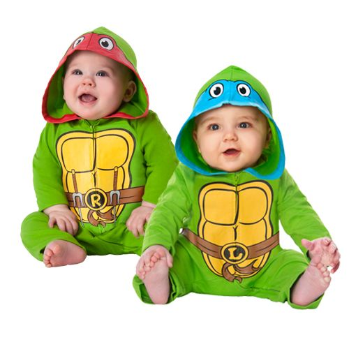 Baby Raphael and Leonardo Teenage Mutant Ninja Turtle Costumes