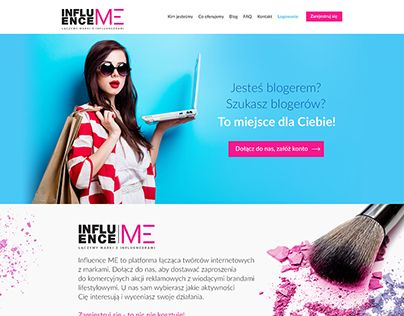 """Check out new work on my @Behance portfolio: """"InfluenceMe - mini website"""" http://be.net/gallery/60877225/InfluenceMe-mini-website"""