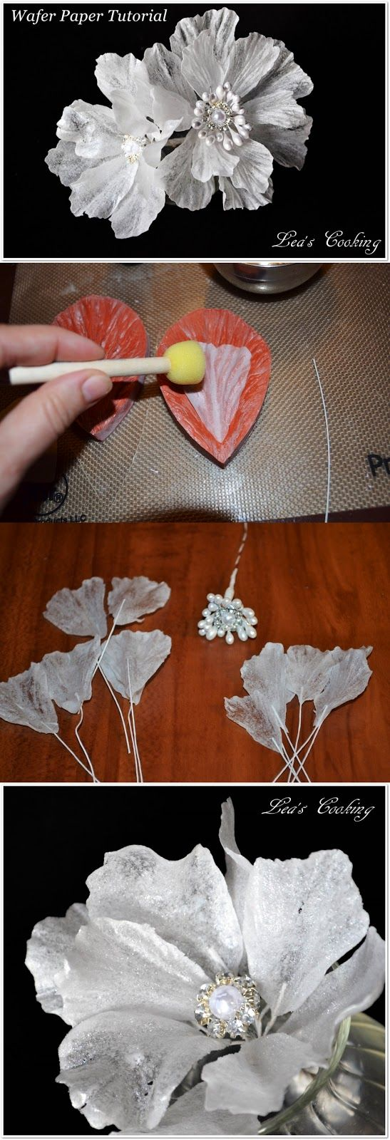 Wafer paper flowers are ultra light, thin, detailed and translucent. Here is an easy tutorial for you guys...