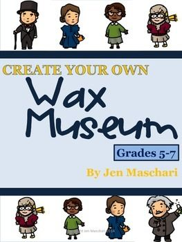 Create Your Own Wax Museum - Our 7th graders loved this authentic research project last year! Combine social studies and language arts skills in this dynamic project. Makes research fun! 17 pages - everything you need to do this project with your own students! $