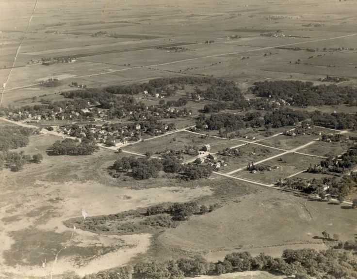 1930s aerial view of Orland Park